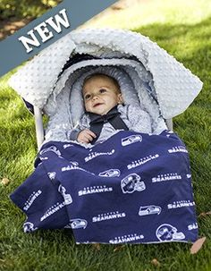 Carseat Canopy Whole Caboodle - Seahawks