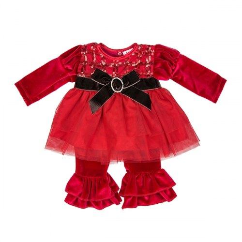 Haute Baby Tis the Season Pant Set