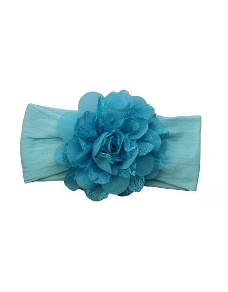 Aqua Lace Chiffon Headband