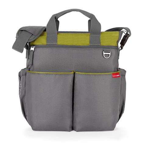 Duo Signature Diaper Bag - Charcoal & Lime