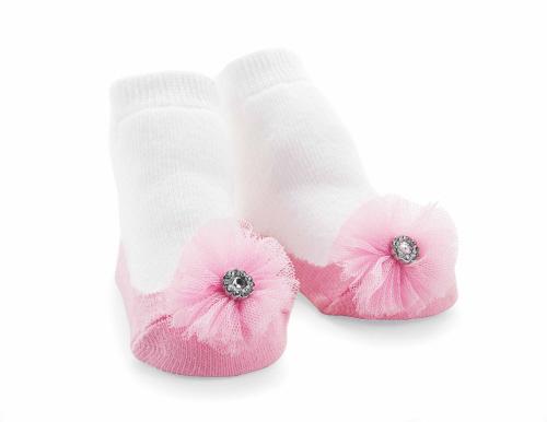 Mud Pie Jeweled Flower Socks