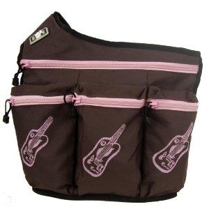 Diaper Dude Brown w/ Pink Guitars