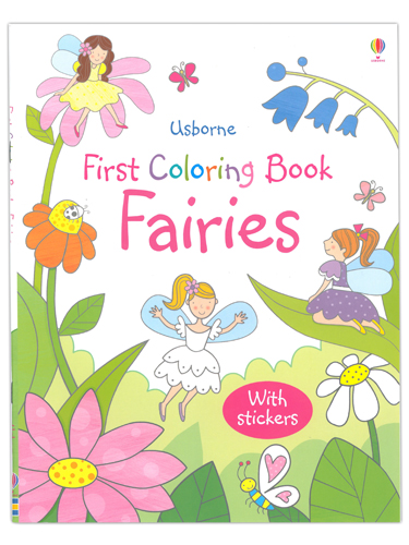 Fairies First Coloring Book with Stickers