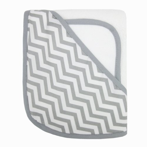 ABC Organic Hooded Terry Towel - Zig Zag