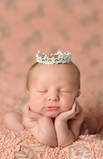 Enchanted Shimmer Sophia Rhinestone Crown with Swarovski Crystals