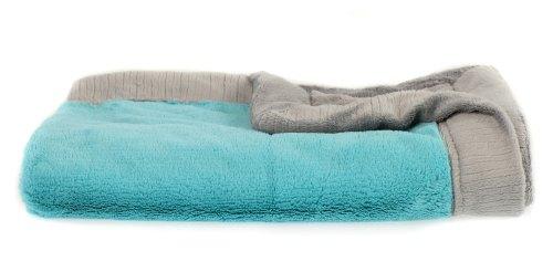 Saranoni Lush Blanket - Aqua & Grey