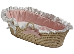 Baby Pink Moses Basket