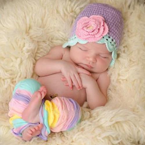 Huggalugs Baby Sherbet Stripe Legruffles