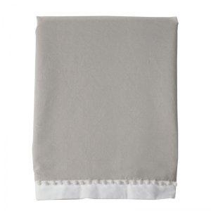 White & Grey Crib Skirt