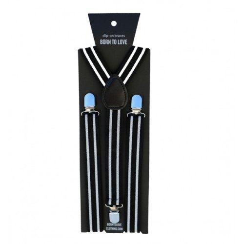 Born to Love Stripes Suspenders