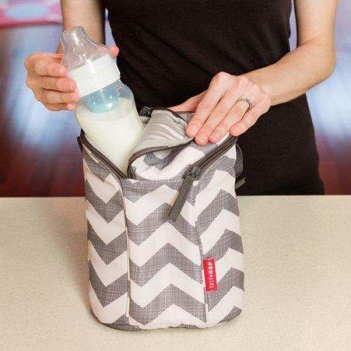 Skip Hop Double Bottle Bag - Chevron