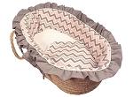 Chevron Pink Moses Basket