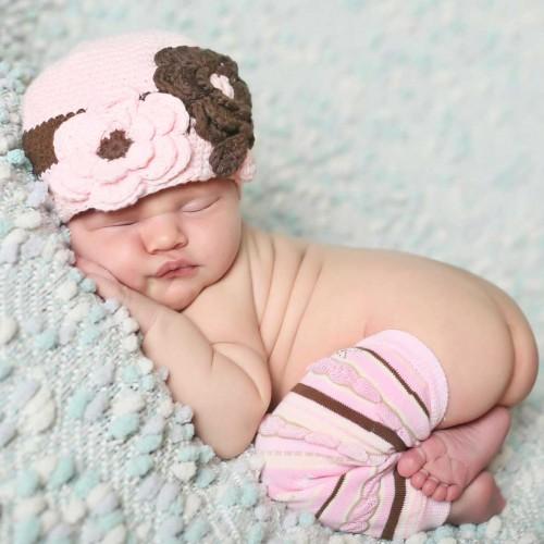 Huggalugs Baby Sundae Stripe Legwarmers