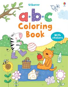 ABC Coloring Book with Stickers