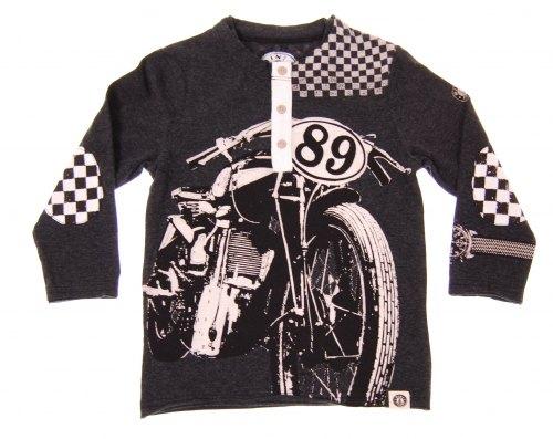 Mini Shatsu Vintage Motorbike Racer Henley