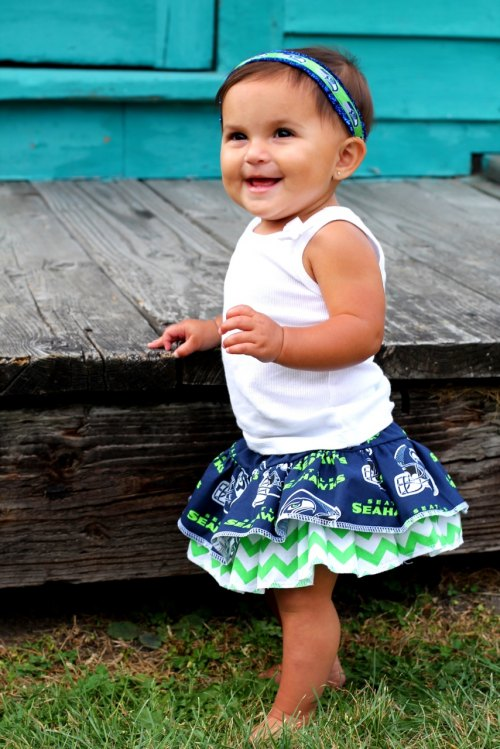 Seahawks Couture Skirt & Bloomers