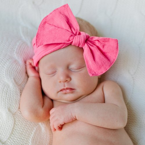 Bow Knot Headband - Hot Pink