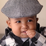 Born To Love - Black & Gray Herringbone Ivy Cap