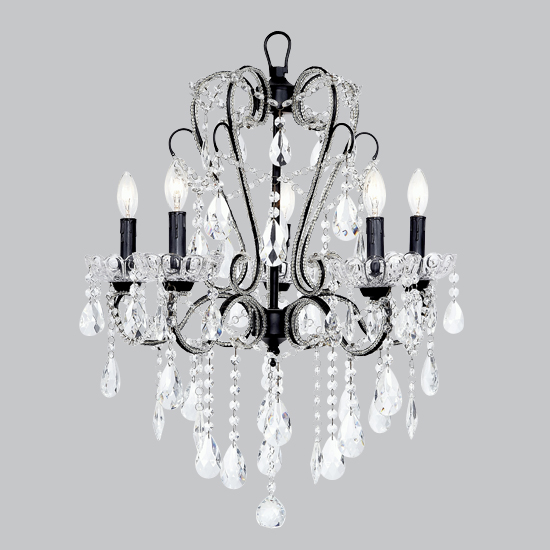 Whimsical Chandelier Black