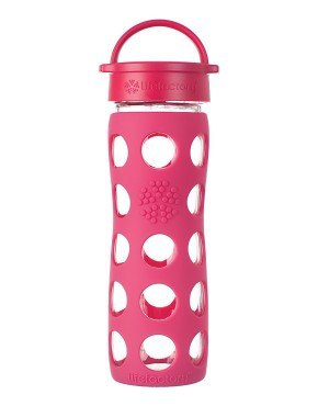 16oz Glass Bottle with Classic Cap - Raspberry