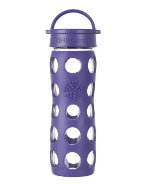 16oz Glass Bottle with Classic Cap - Royal Purple