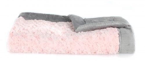 Saranoni Swirl Blanket - Pink & Grey
