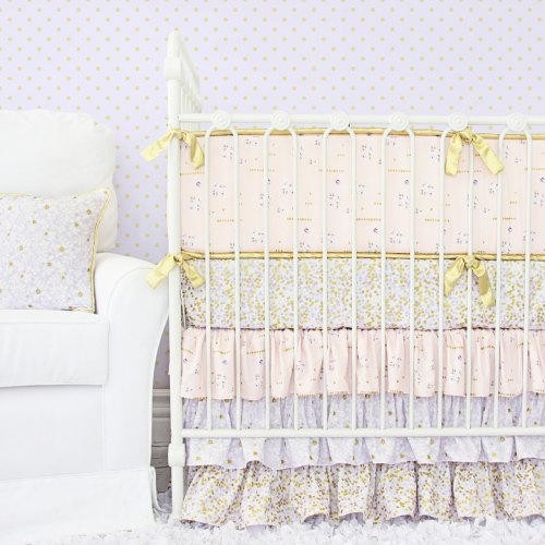Caden Lane Lilac and Gold Sparkle Baby Bedding