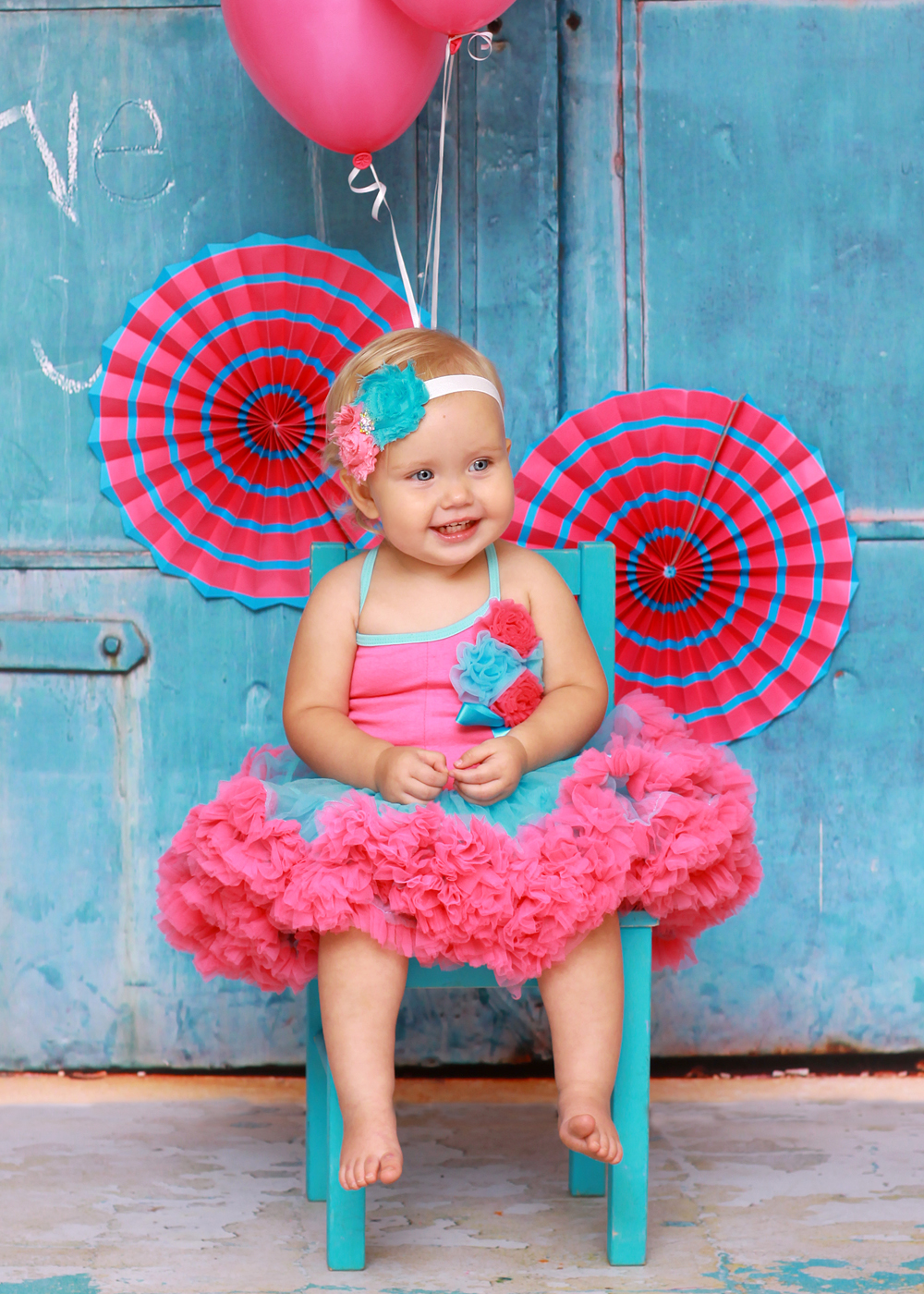 LM Cotton Candy Blue & Pink Tutu Set