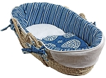 Medallion Blue Moses Basket