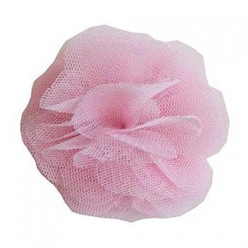 Light Pink Net Flower Clip
