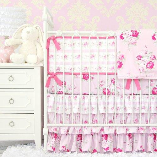 Caden Lane Shabby Chic Pink Ruffle Baby Bedding