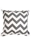 Twelve Timbers Dark Grey Chevron Pillow