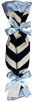 SB Security Blanket- Navy Chevron/Blue Satin