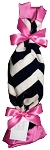 SB Security Blanket- Navy Chevron/Hot Pink Satin