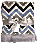SB Receiving Blanket- Slate & Navy Chevron