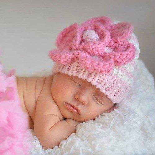 Huggalugs Parfait Pink Beanie Hat