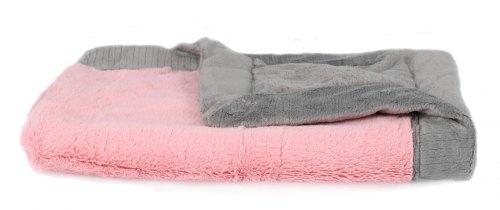 Saranoni Lush Blanket - Pink & Gray