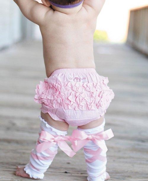 RuffleButts Woven Pink
