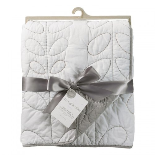 Quilted Comforter - White & Grey