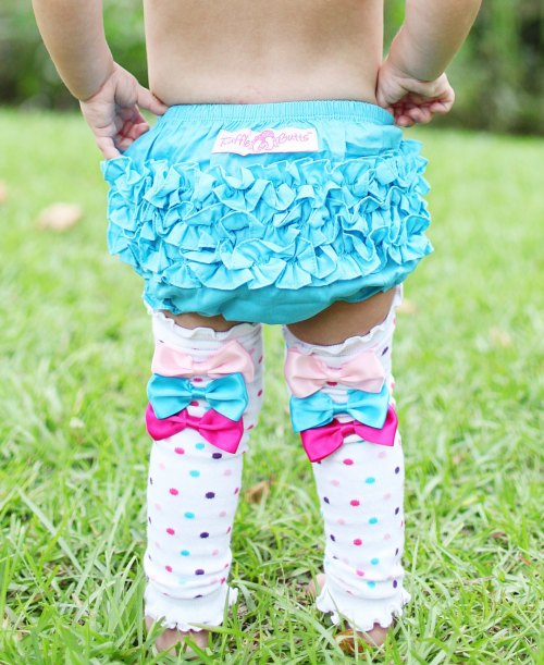 RuffleButts Rainbow Sprinkles Legwarmers