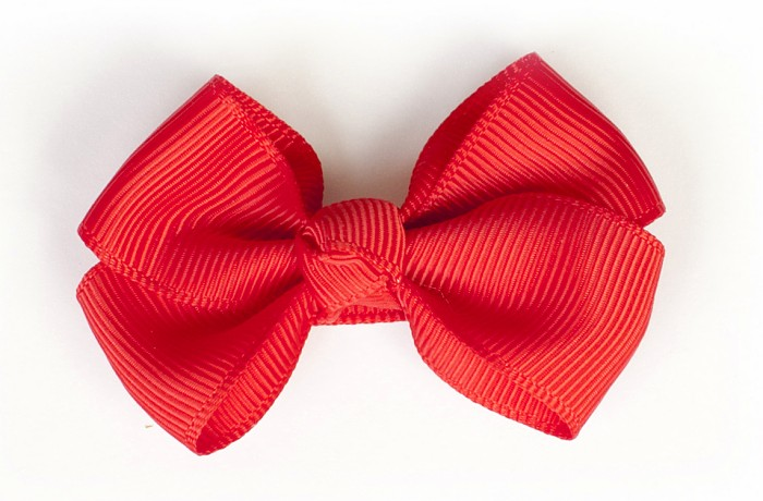 Red Grosgrain Bow Clip
