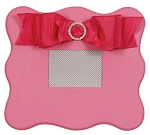 Candy Pink Scalloped Wall Frame
