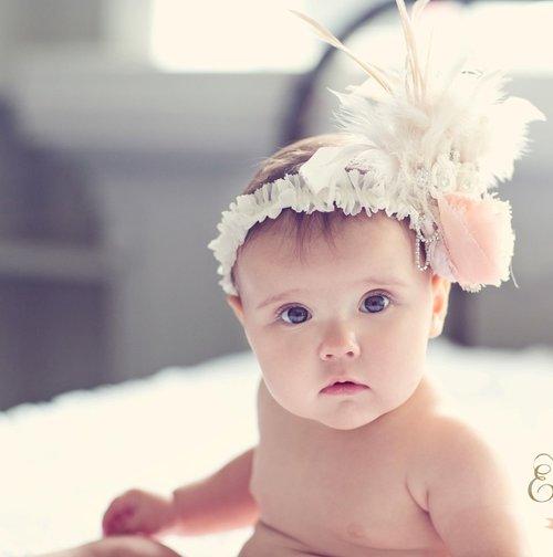 Enchanted Shimmer Rose Feather Headband