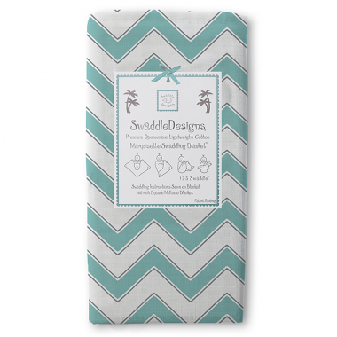 Swaddle Designs Marquisette Swaddle Blanket Chevron - Turquoise