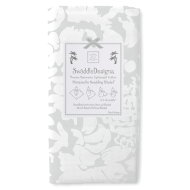 Swaddle Designs Marquisette Swaddle Blanket Lush - Sterling