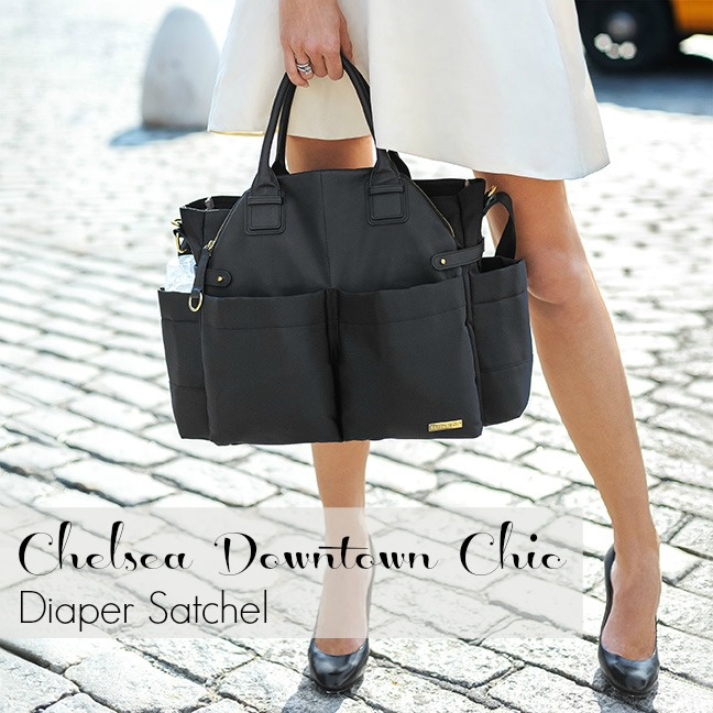 Chelsea Downtown Chic Diaper Bag - Black