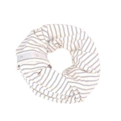 NuRoo Nursing Scarf - Gray Stripe