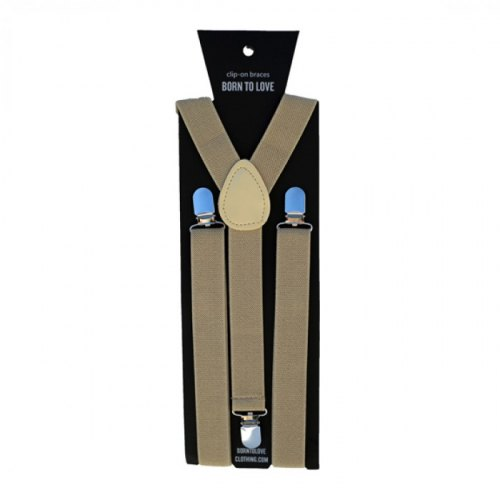 Born to Love Tan Suspenders