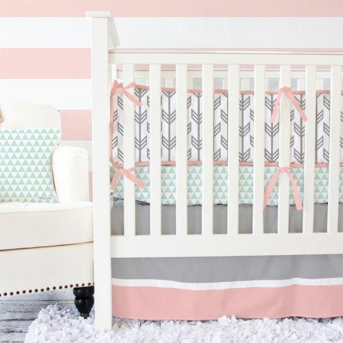 Caden Lane Coral & Mint Arrow Baby Bedding