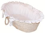 White Pique Moses Basket